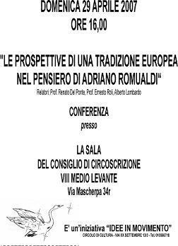 Conferencia sobre Adriano Romualdi